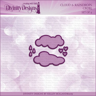 Divinity Designs LLC Clouds and Raindrops Dies