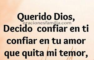 imagen con oracion por la familia tener confianza en Dios en el hogar la casa