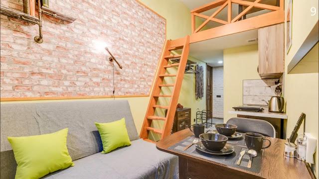 apartamento pequeno com mezanino-kitnet