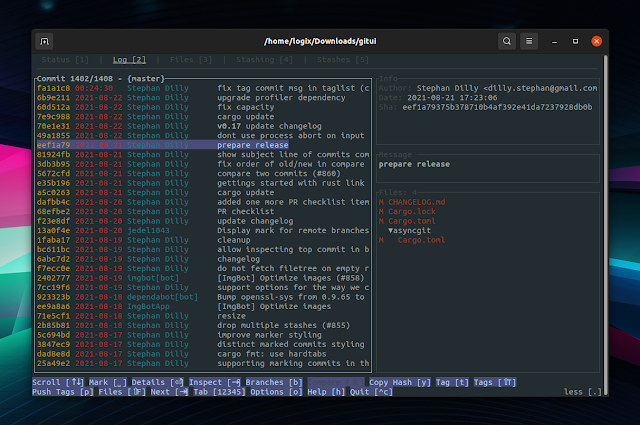 GitUI Rust Git terminal user interface