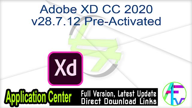 Adobe XD CC 2020 v28.7.12 Pre-Activated