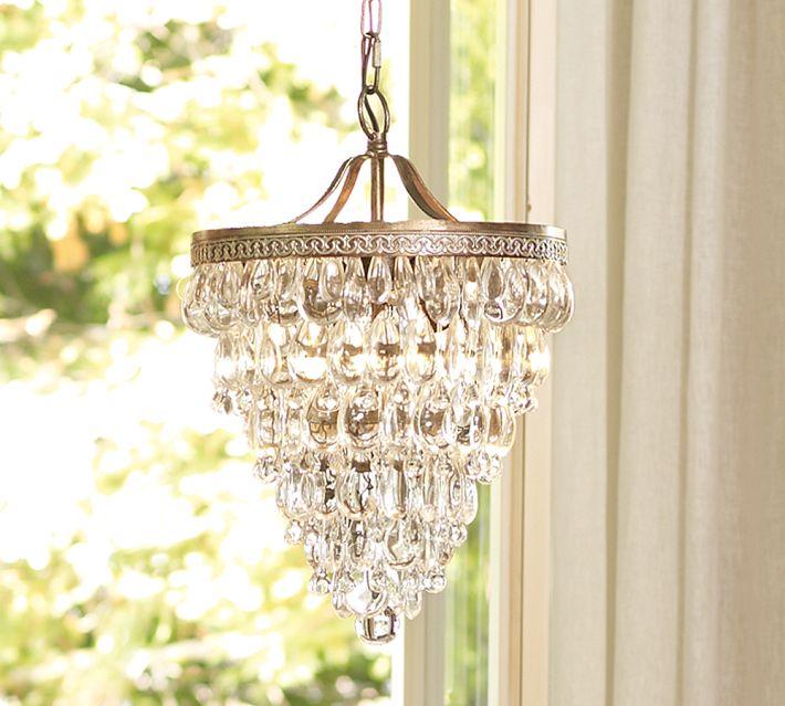 Very Clarissa Glass Drop Chandelier   Decor Look Alikes PM39