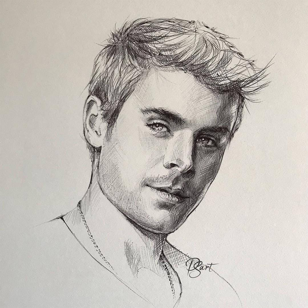 06-Zac-Efron-Pepper-Strokes-Traditional-Drawings-Pencils-and-Pens-www-designstack-co