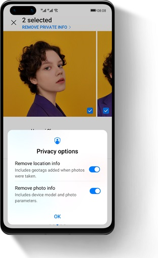 Huawei's New Safe Image Sharing Feature