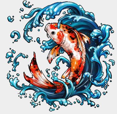 Gambar Ikan Koi Animasi Bergerak Lucu Wallpaper HD
