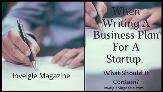 When Writing A Business Plan For A Startup. What Should It Contain?
