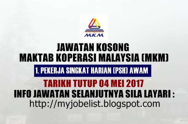 Jawatan Kosong di Maktab Koperasi Malaysia (MKM) Mei 2017