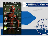 BBM MOD Tema DeadPool Based v2.13.1.14 Terbaru