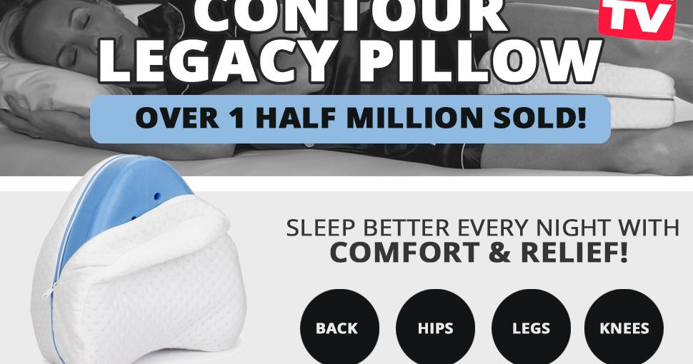 Contour Legacy Leg Pillow For Back Hip Legs Amp Knee