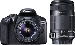 Canon EOS 1300D 18MP Digital SLR Camera (Black) with 18-55 and 55-250mm is II Lens, Best DSLR Camera online at best prices in India | Best DSLR Camera seller | my support