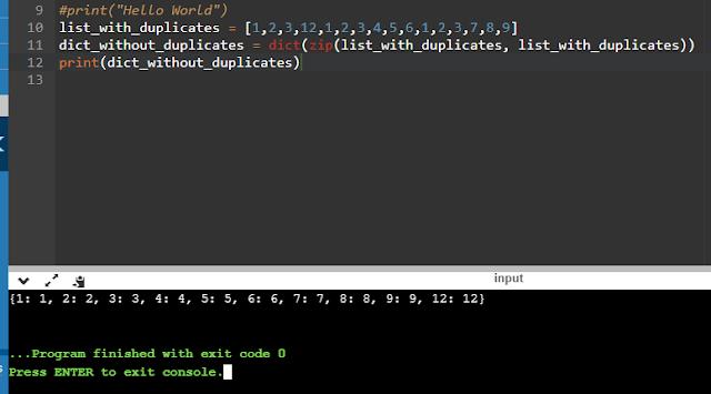 Idea 2: Remove Duplicates Using Dictionary.