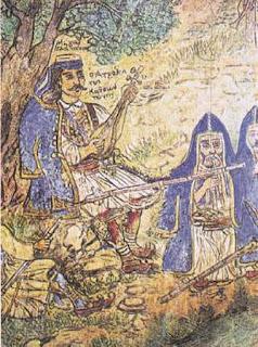 Πίνακας «Ο Ατρόμητος Κατσαντώνης», του λαϊκού ζωγράφου Θεόφιλου Χατζημιχαήλ (