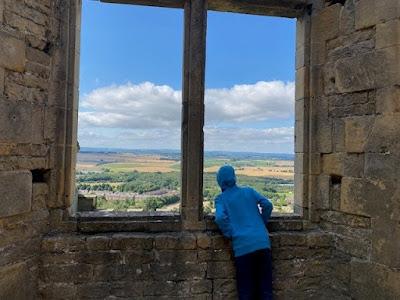 Terrace Range Bolsover Castle view from window
