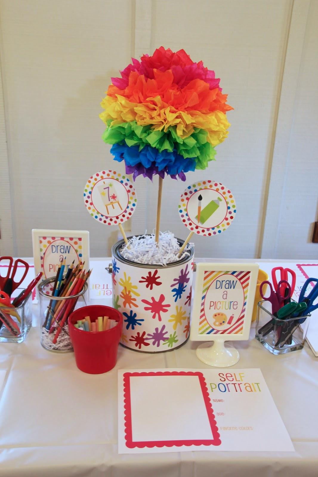 5m Creations Rainbow Art Party