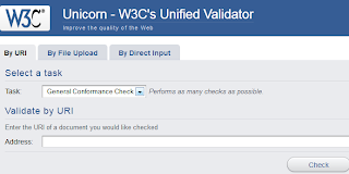 image of W3C's unified validator