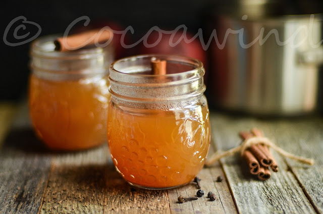 Hot Spiced Apple Cider (alcoholic version with Bourbon included)