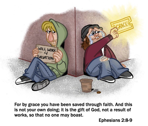 Saved by Grace through Faith (Ephesians 2:8-9). Good works follows . .
