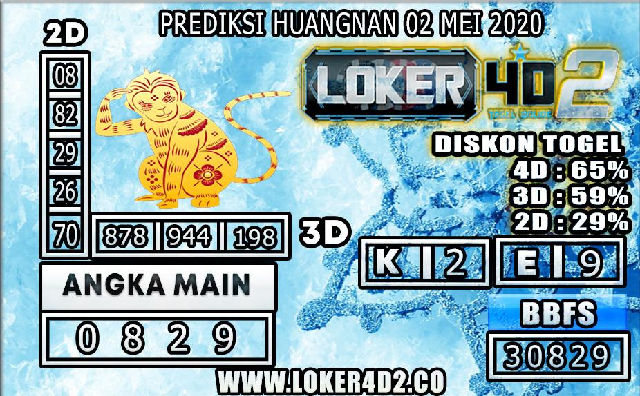 PREDIKSI TOGEL HUANGNAN LOKER4D2 02 MEI 2020