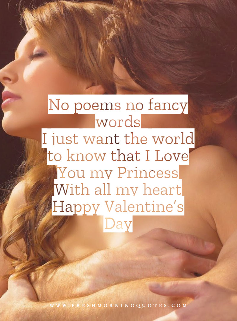 no poems no fancy words just i love you Heart Touching Valentines Day Messages