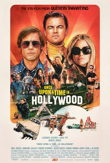 Once Upon A Time in... Hollywood Film Poster - Quentin Tarantino, 2019