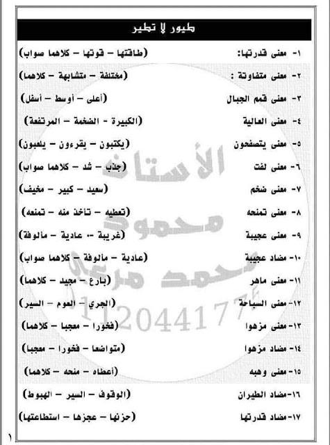 مراجعة لغة عربية اختيار من متعدد (منهج شهر مارس) الصف الرابع الابتدائي الترم الثانى 2021 مستر محمد مرعى