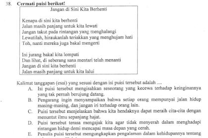 Contoh Soal Menyusun Kalimat Acak Bahasa Indonesia
