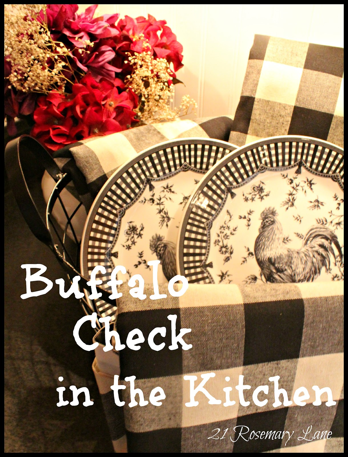 A Few New Items For My Kitchen Black And White Buffalo Check