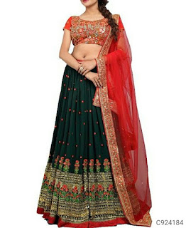 Latest Georgette Embroidery Lehengas