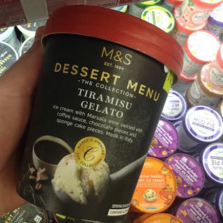 M&S Dessert Menu Tiramisu Gelato