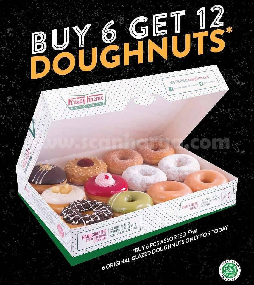 Krispy Kreme Payday! Promo Beli 6 GRATIS 6 Donut