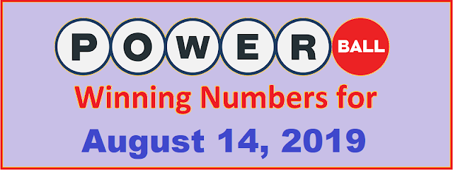 PowerBall Winning Numbers for Wednesday, August 14, 2019