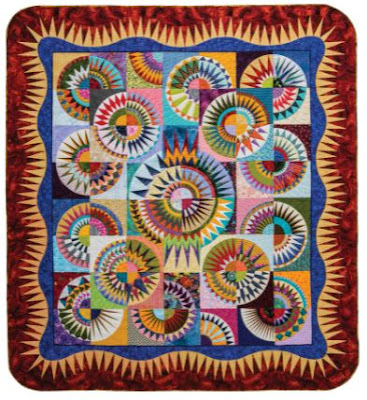 quilt with curves and spikes