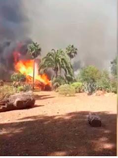 El incendio de Fataga, Gran Canaria, se ha dado por estabilizado