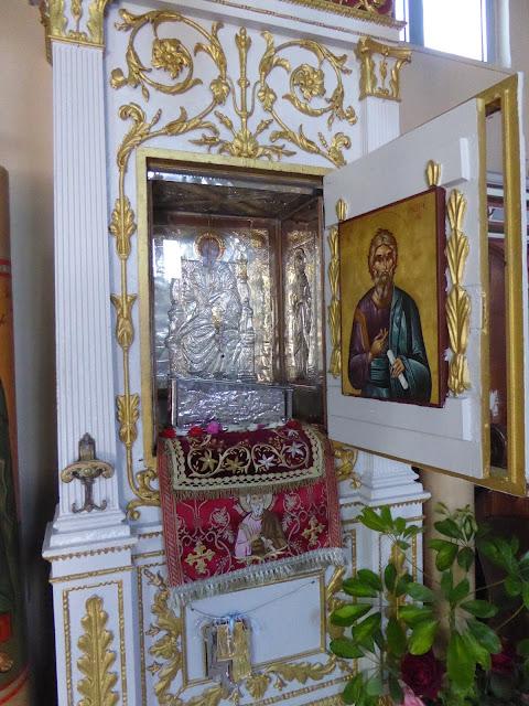 Το πέλμα του δεξιού ποδός του Απόστολου Ανδρέα.  Ιερά Μονή Αγίου Ανδρέα Μηλαπιδιάς. https://leipsanothiki.blogspot.com/
