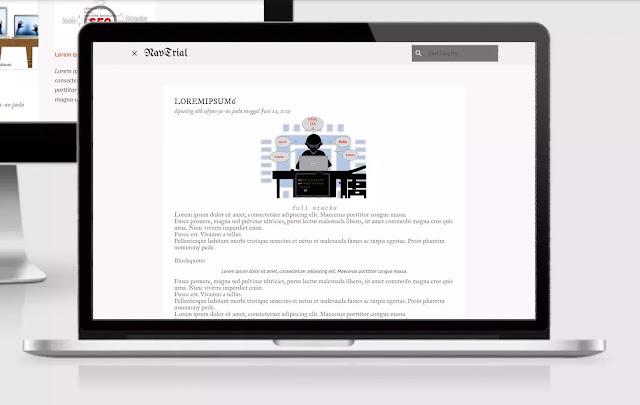 tampilan halaman postingan template emporio setelah di edit