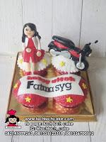 Cupcake Tema Sepeda Motor Kesayangan