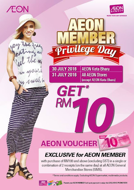 AEON General Merchandise Stores Free Cash Voucher