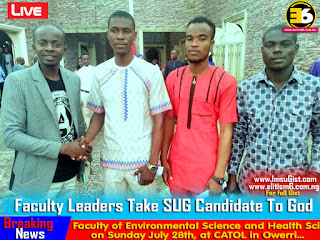 IMSU Decides: Faculty Leaders Take SUG Candidate To God