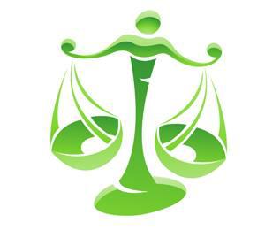 Imagen de la balanza de Libra de color verde