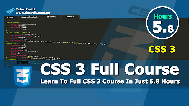 Learn CSS 3 Full Course Step By Step Session Wise Same As Institutions