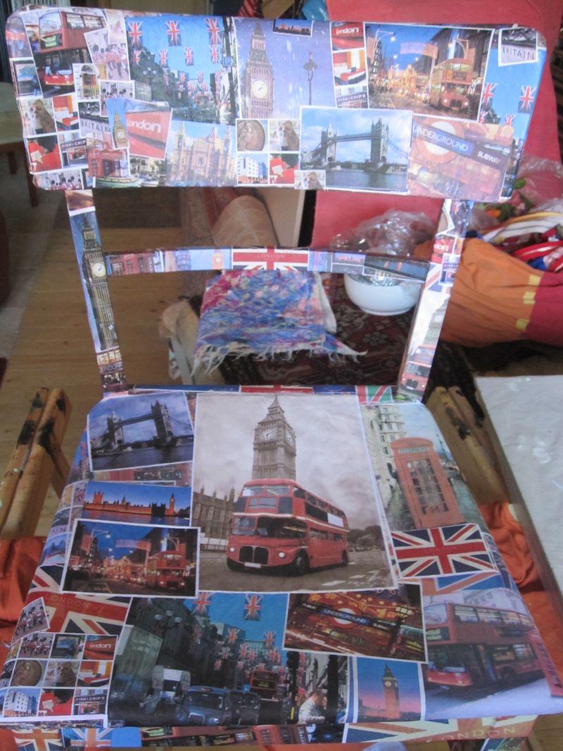 textil kunst keller 1 alten stuhl im londonstyle bekleben. Black Bedroom Furniture Sets. Home Design Ideas