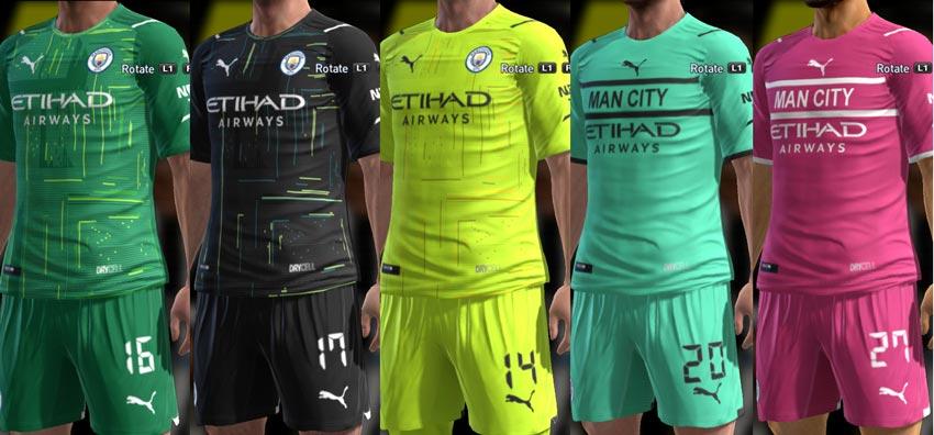 Manchester City Kit 2021-2022 For PES 2013