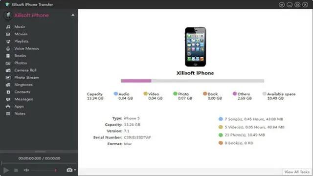تحميل برنامج Xilisoft iPhone Transfer with key لنقل الملفات من الايفون الى الكمبيوتر والعكس