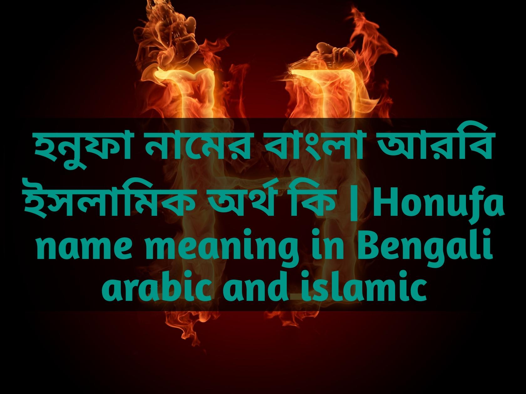 Honufa name meaning in Bengali, হনুফা নামের অর্থ কি, হনুফা নামের বাংলা অর্থ কি, হনুফা নামের ইসলামিক অর্থ কি,
