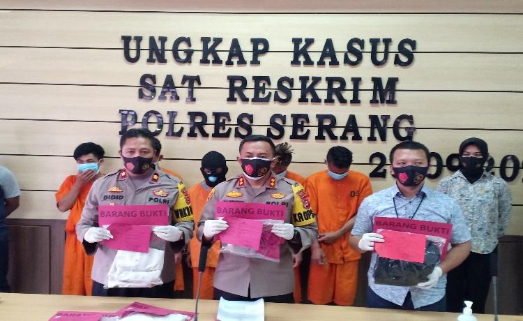 Satreskrim Polres Serang Berhasil Ringkus 5 Tersangka Pemerkosaan Anak Dibawah Umur