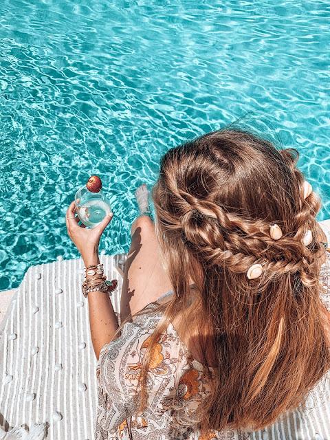 DIY shell hair barettes for boho braids