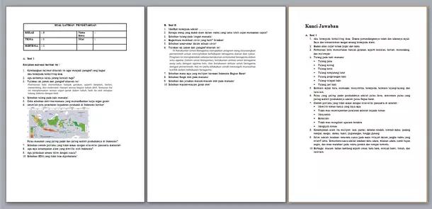 Contoh Soal Uts Kelas 5 Kurikulum 2013 Semester 1 Dan 2 Berkas Edukasi