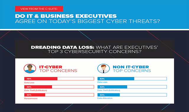 Do Executives and Cybersecurity Pros Agree on Today's Biggest Cyber Threats? #infographic