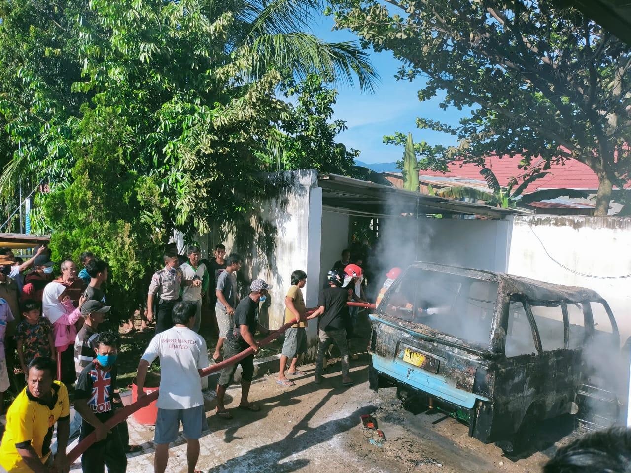Polres Tolitoli Selidiki Penyebab Kebakaran Mobil dan Motor di SPBU Sandana