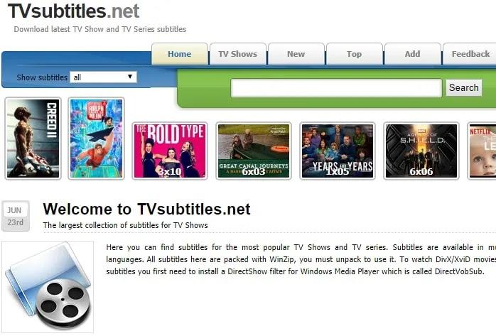 موقع Tvsubtitles.net